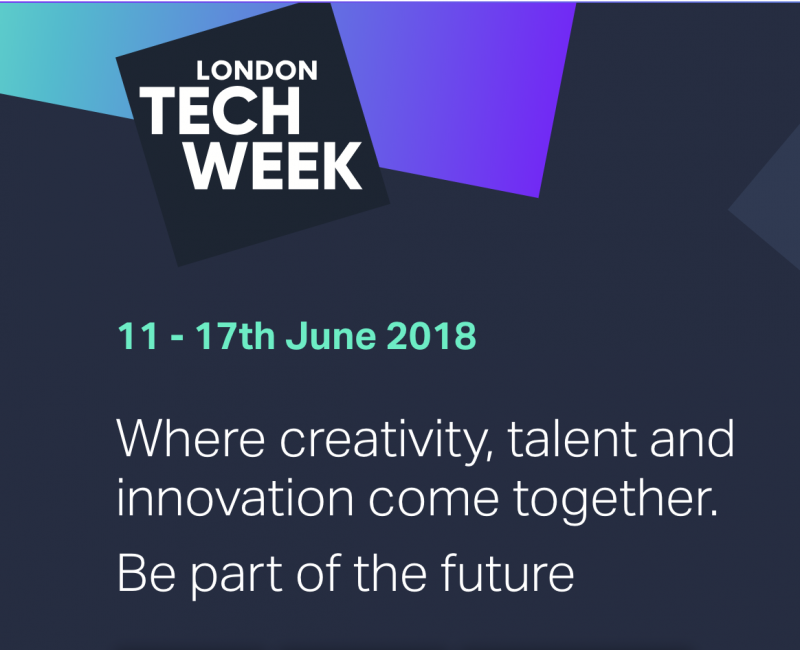 home page of the website for london tech week
